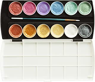 Jack Richeson Set of 12 Semi Moist Collegiate Metallic Watercolor