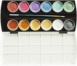 Jack Richeson Set of 12 Semi Moist Collegiate Metallic Watercolor