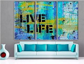 Wsxyhn ストリートステンシルアートフォントキャンバス画像家の装飾絵画壁プリントポスターモジュラーリビングルーム-40X80Cmx3フレームなし