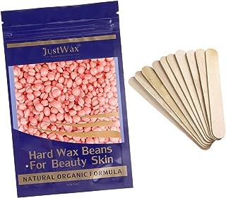 Wachsbohnen Haarentfernung Wachsperlen -Wax Beans -Wachsperlen Waxing Perlen -Wax Beads -Pearl Wax -Waxperlen -Hardwax -Hartwachs -Enthaarungswachs Niedrigtemperatur ohne Vliesstreife 100g Rosa