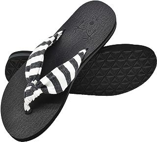 KuaiLu Tongs Femme été Tissu Thong Mousse de Yoga Plates Coussined Sandales Plage et Piscine Chaussures