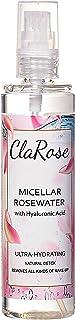 ClaRose Mizellen-Wasser mit Hyaluronsäure und 100 % natürlichem veganem Rosenwasser, 150 ml