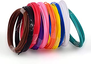 10pcs 1.75mm PCL Filament Eco-Friendly Material 3D Pen Filament Refills Premium Set of 10 for TECBOSS SUNLU 3D Printing Pe...