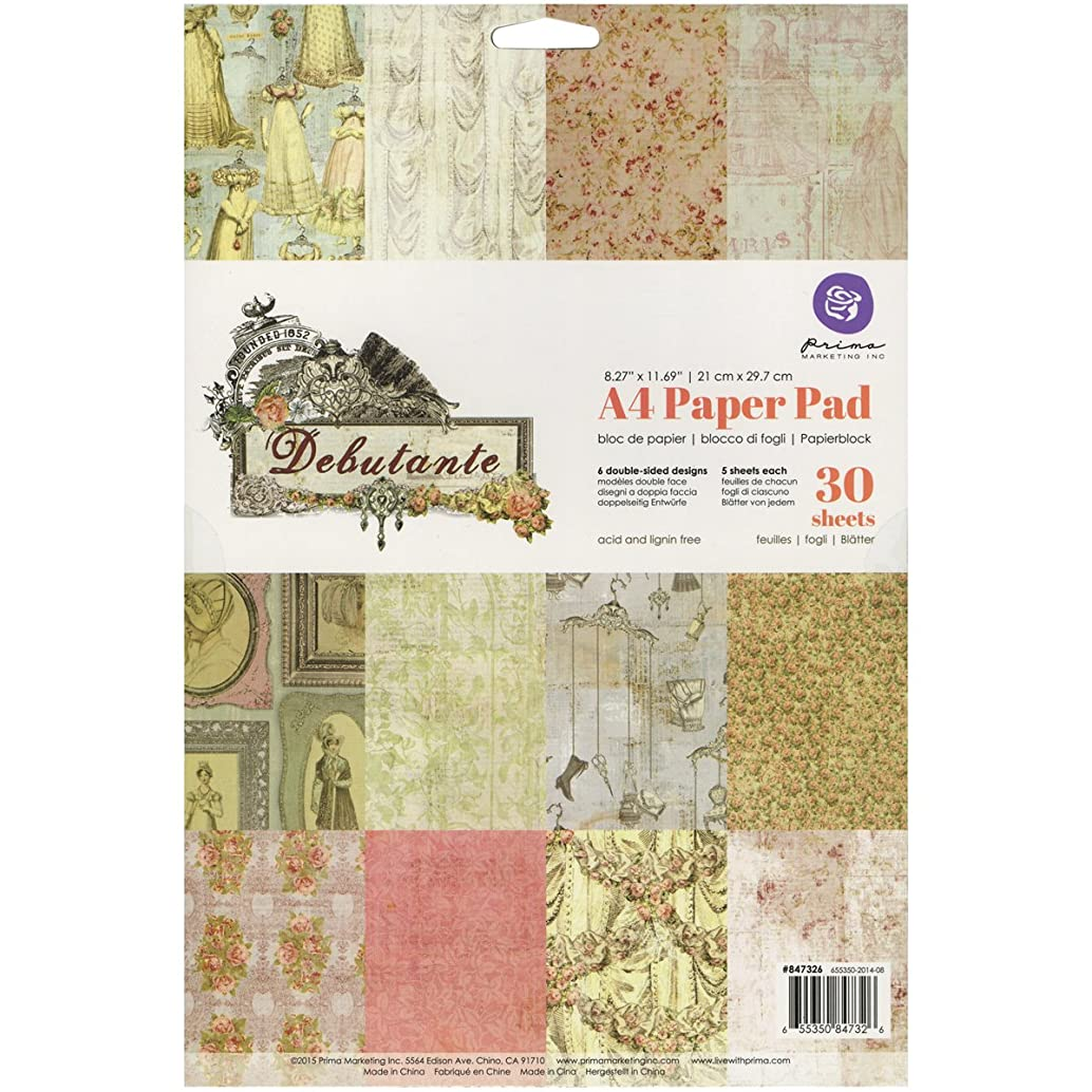Prima Marketing Double-Sided Paper Pad A4 30/Pkg-Debutante, 5 Each of 6 Designs