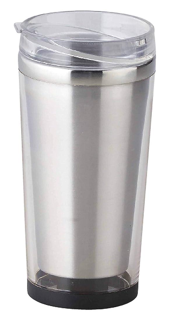 節約するトリッキーディレクトリメトリックス 保温 保冷 ステンレス サーモ タンブラー クリア 320ml (オシャレで便利なクリアトップ仕様の フタ付き) es