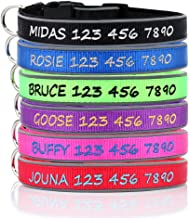 PLUTUS PET Personalized Dog Collar,Custom Embroidered Dog Collar with Name and Phone Number,Reflective Soft Neoprene Padded Dog Collar