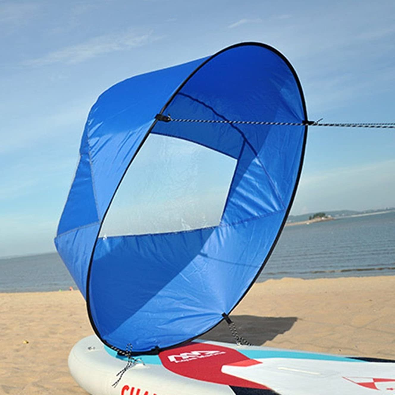 Liruis 42'' Foldable Kayak Downwind Wind Sail Kit Sup Paddle Board Instant Popup Easy Setup for Kayak Boat Sailboat Canoe