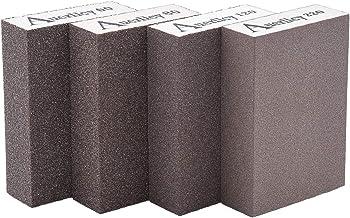 Sanding Sponge, Auerllcy Coarse/Medium/Fine/Superfine 4 Different Specifications Sanding Blocks Assortment,Washable and Reusable. (4 PCS)