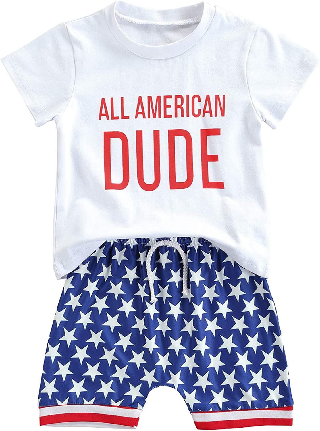 Toddler Baby Boy Summer Outfit Short Sleeve T-Shirt Top and Shorts Sets 2Pcs Playwear 0-4T