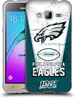 Official NFL Banner 100th 2019/20 Philadelphia Eagles Soft Gel Case Compatible for Samsung Galaxy J3