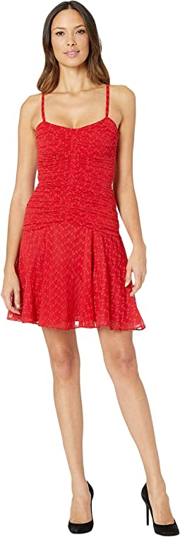 Gathered Eyelet Dress