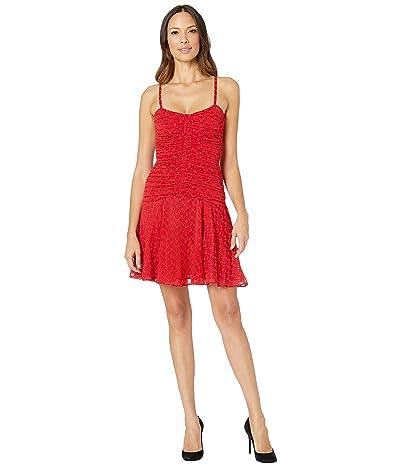 JILL JILL STUART Gathered Eyelet Dress (Red) Women