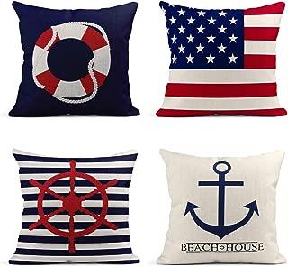 nautical flag throw pillows