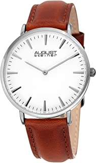 August Steiner Women's Quartz Watch, Analog Display and Leather Strap