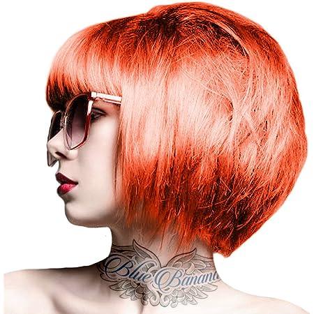 Crazy Color Orange 60 100mL - Crema colorante cabello - Pigmentos Fantasía - Vivos Espectaculares Tonos