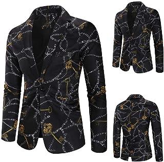 Mens Blazer Single Breasted Tuxedo Jacket Slim Fit Formal Business Suit Jackets Goosun Men's Fashion Printed Cardigan Jack...