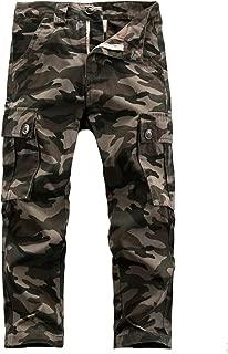 Macondoo Boys Camouflage Elastic Waist Rugged Cargo Jogger Pants
