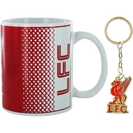 L F C Offizielles Liverpool Fußball Keramikbecher Mit Wappen Schlüsselanhänger 313 Ml Küche Haushalt