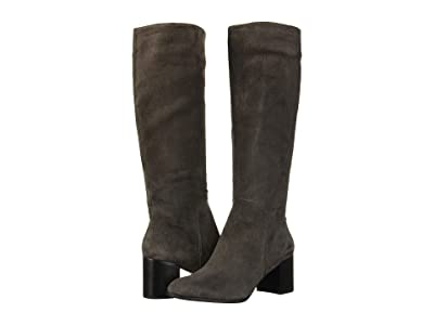 Kenneth Cole New York Justin Mid Riding Boot (Asphault Suede) Women