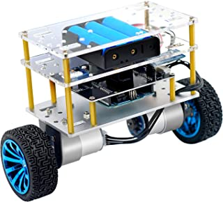 Yahboom Coding Robot Car Balance Robot Electronics Programmable Kit for Adult Support C Language (UNO R3 Include)