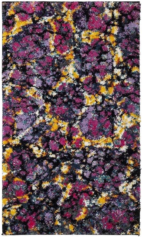 Safavieh Fiesta Shag Collection FSG370P Lavender Purple and Multi Area Rug (3' x 5')
