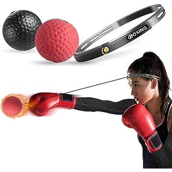 パンチングボール ボクシング ボール 格闘技 打撃練習 フリー戦闘 Cinsey 軽量 練習用ボー 反射神経 動体視力 迅速な対応能力など鍛え (ブラック+レッド) トレーニング
