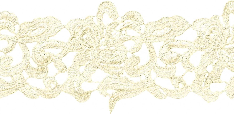 Farbwahl maDDma /® 1m Farbe:beige Meterware Spitzenborte Bestickte Spitze Spitzenband 75mm