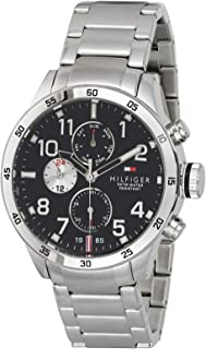 Tommy Hilfiger Trent Men's Black Dial Stainless Steel Band Watch - 1791141