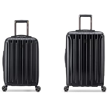 DELSEY Paris Titanium DLX Hardside Luggage with Spinner Wheels, Black, 2-Piece Set (21/25)