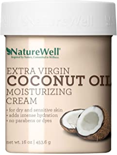 NatureWell Extra Virgin Coconut Oil Moisturizing Cream, 16 oz. Pack of 2
