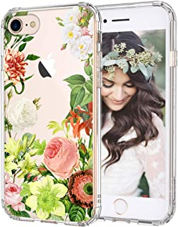 iPhone 8 Case, iPhone 7 Case, MOSNOVO Botany Flower Clear Design Hard Back Phone Case with Shockproof TPU Bumper Protective Case Cover for iPhone 7 / iPhone 8