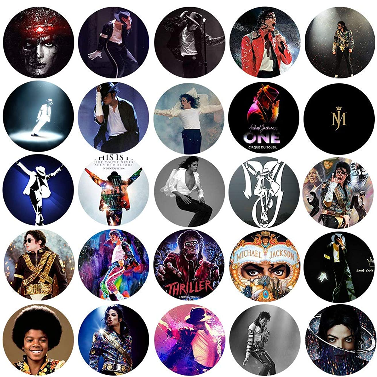 UniqueNO1 The Bigger Vivider Badge Button Pin Pinback Button for Michael Jackson Fans 1.75inch Pack of 25