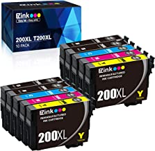 E-Z Ink (TM) Remanufactured Ink Cartridge Replacement for Epson 200XL 200 XL T200XL to use with XP-200 XP-300 XP-310 XP-400 XP-410 WF-2520 WF-2530 WF-2540 (10 Pack)