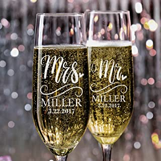 Best wedding toasting flutes engraved Reviews