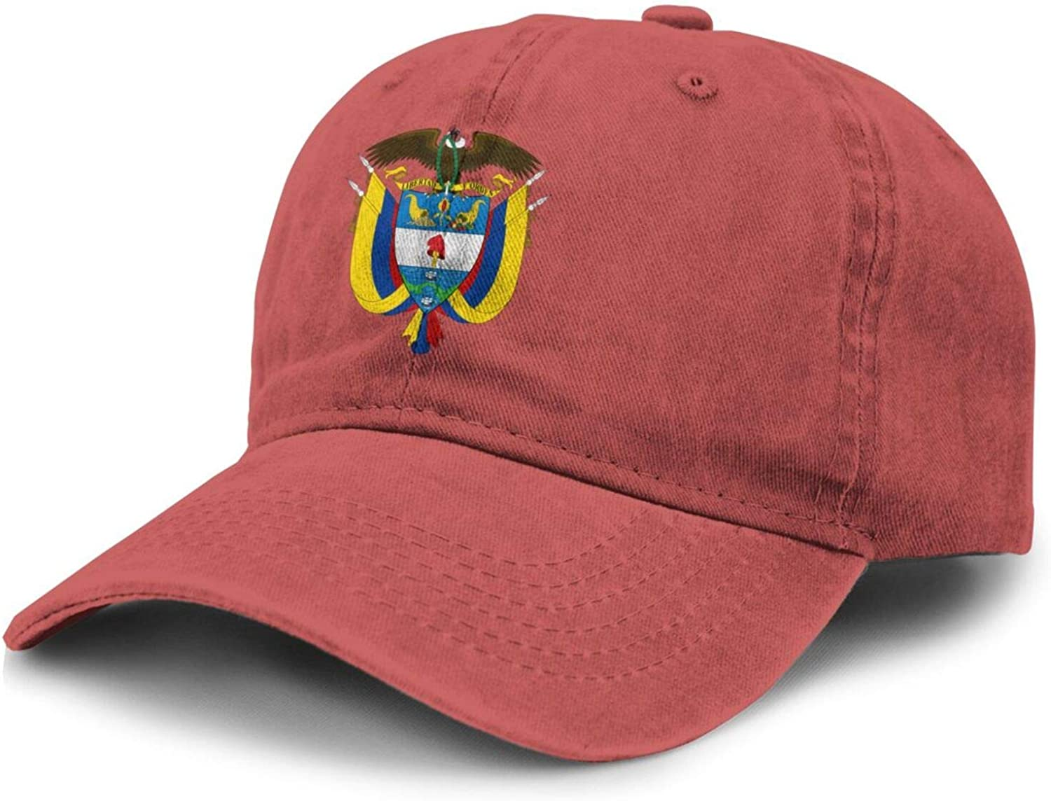 SEAEAGLE Coat of arms of Colombia Adult Curved Brim Baseball Hat Sports Cowboy Cap