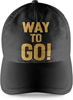 Way to Go quote Black Cap with Gold Print Decor Home