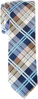Retreez Men's Tartan Check Woven Microfiber Skinny Tie