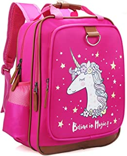"Girls Backpack Unicorn 15"" Pink Kids School Bag for Preschool, Kindergarten, Elementary"
