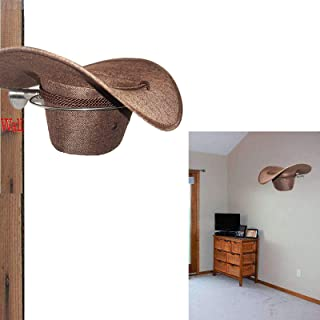 Cowboy Hat Rack Cowboy Hat Holder Coyboy Hat Organizer Coyboy Hat Display - Easy to Install - Screws Included - Your hat Will Now be Allowed to air Dry - No Falling - Wall-Mounted Steel - No Hat