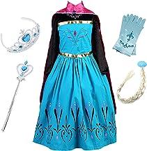 FStory&Winyee Kinder Eiskönigin ELSA Mädchen Prinzessin Kleid mit Umhang Karneval Party Kostüm Cosplay Verkleidung Hallowe...