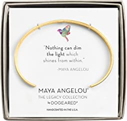 Maya Angelou: Nothing Can Dim The Light Cuff Bracelet