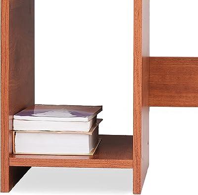 Ebee Engineered Wood Office Desk; Study Desk(White Finish,White)