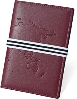 Drapeau des /États-Unis V/éritable Cuir V/éritable USA Passeport Titulaire Couverture Voyage /Étui