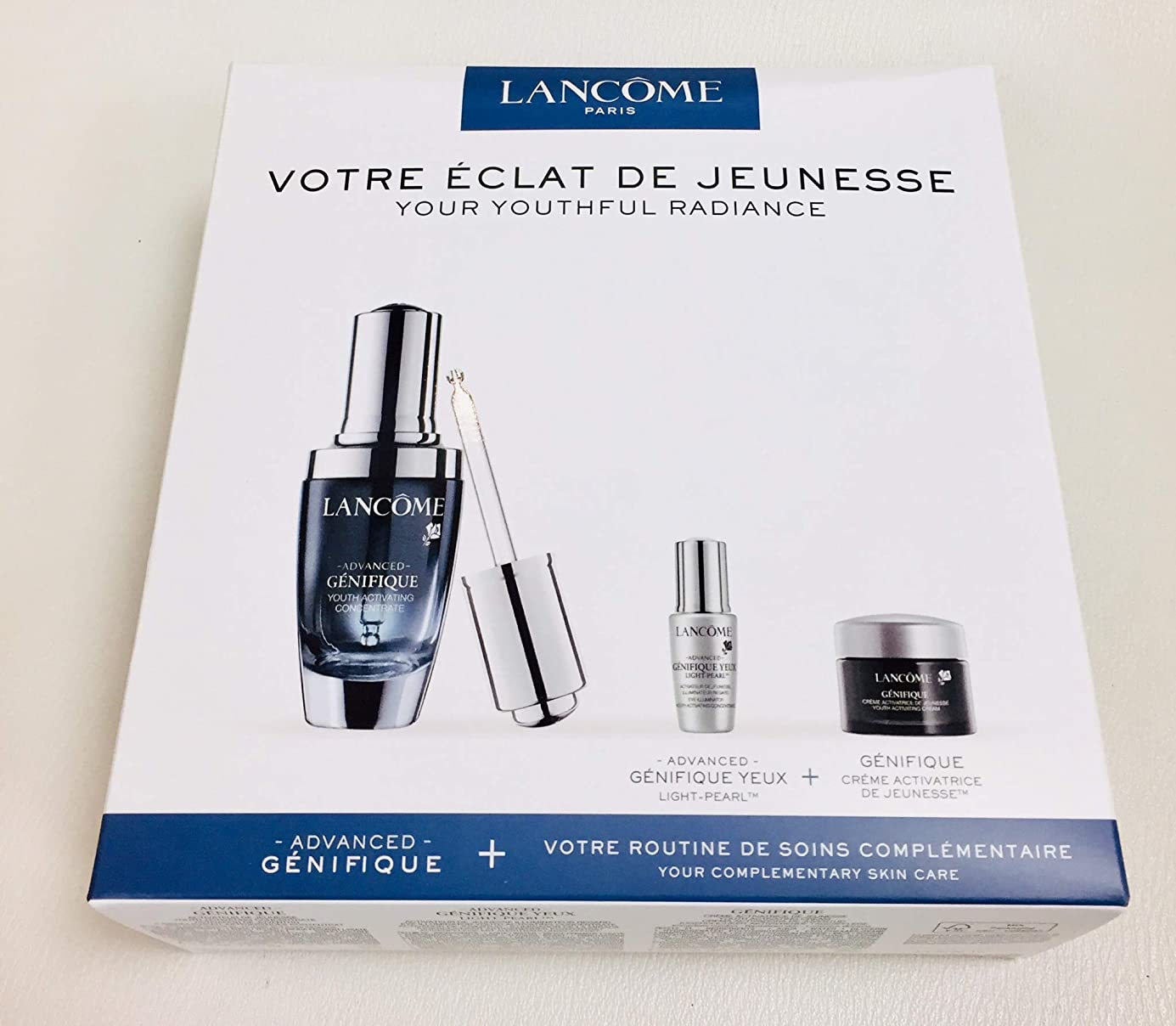 ビヨン解凍する、雪解け、霜解け排除するランコム Genifique Your Youthful Radiance Set: Genifique Concentrate 30ml + Genifique Yeux Light-Pearl 5ml + Genifique Cream 15ml 3pcs並行輸入品