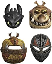 How to Train Your Dragon 3 Party Masks for Kids from The Hidden World (24 Count) Black