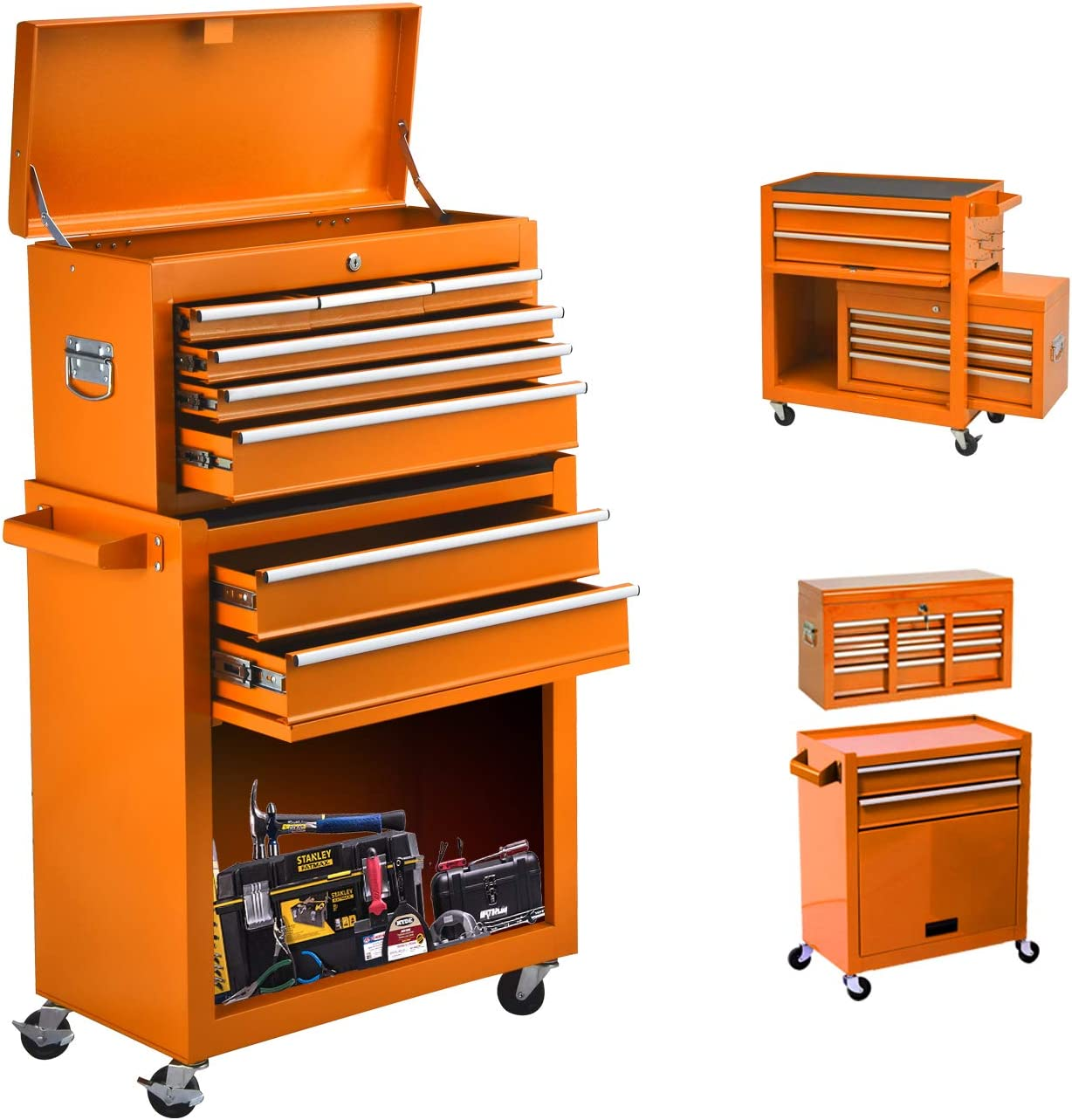 Indefinitely On Shine 8-Drawer Tool ChestTool Box Drawers with Detac Special Campaign Sliding