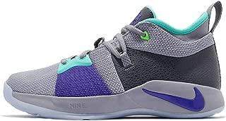 Nike Kids PG 2 (GS) Pure Platinum/Neo Turq Basketball Shoe 6 Kids US
