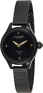 Akribos XXIV Women's Dial Stainless Steel Mesh Band Watch - AK873BK