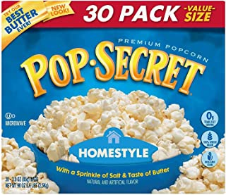 Pop Secret Home Style Popcorn, 30 Count, 3 Ounce Bags