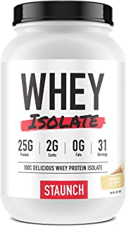 Staunch Whey Isolate (Vanilla Ice Cream) 2 LBS - Whey Protein Isolate